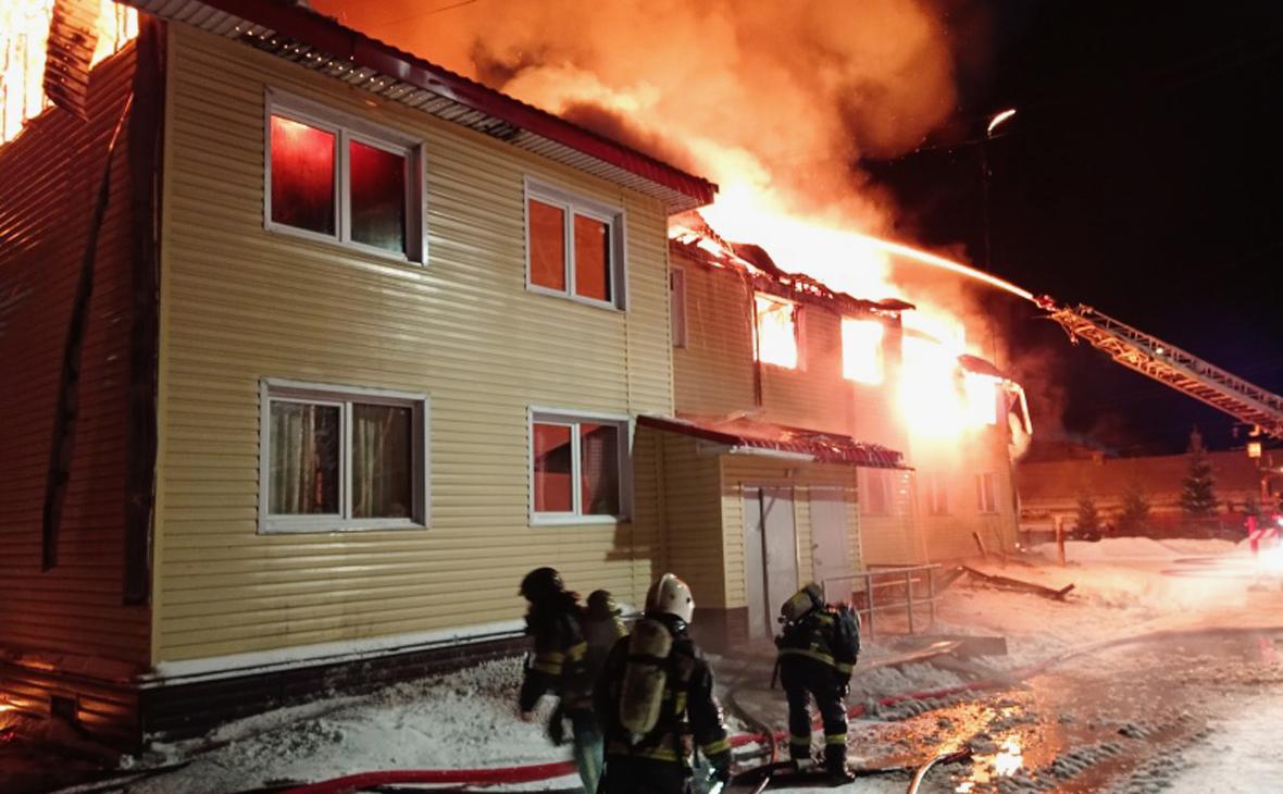 В Мурманской области при пожаре в жилом доме погиб мужчина