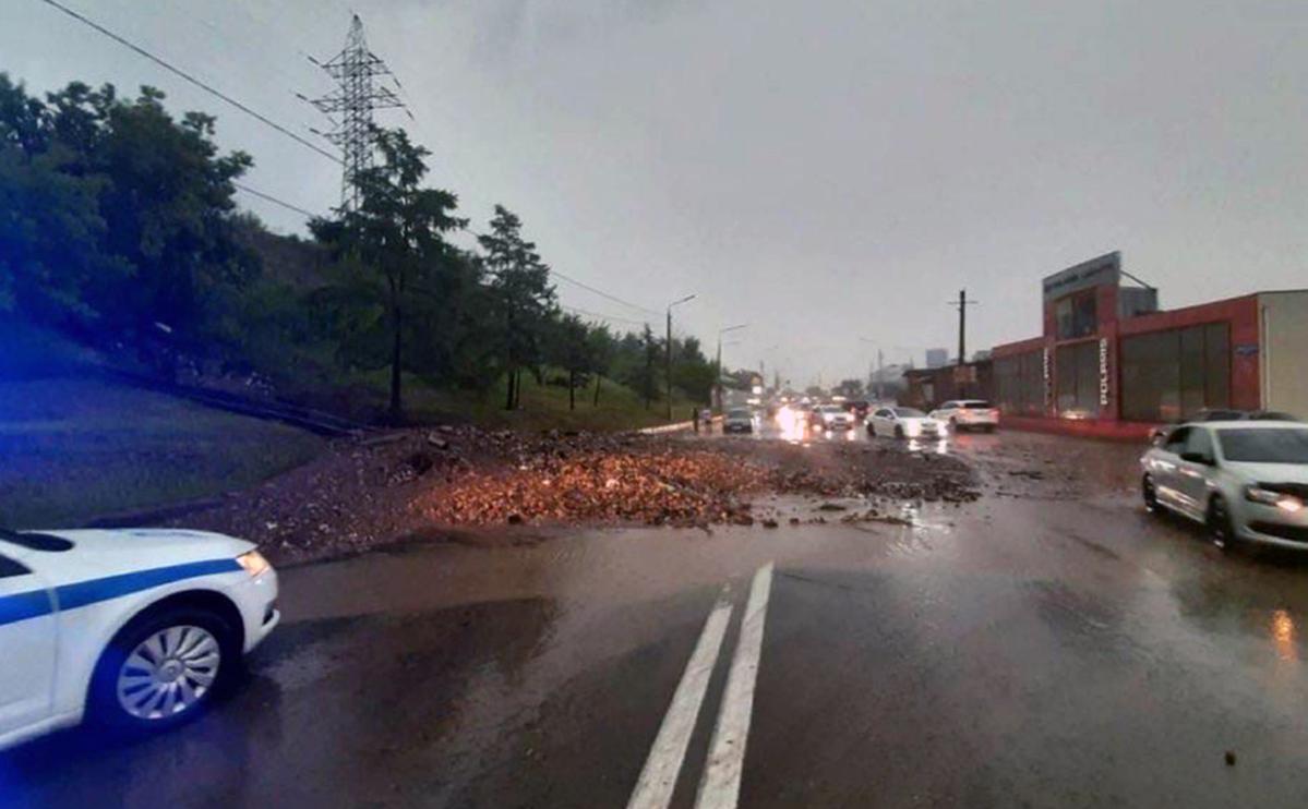 Красноярск затопило после ливней