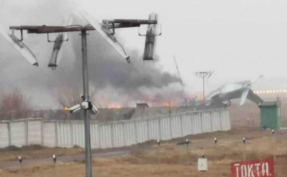 В Казахстане упал самолет