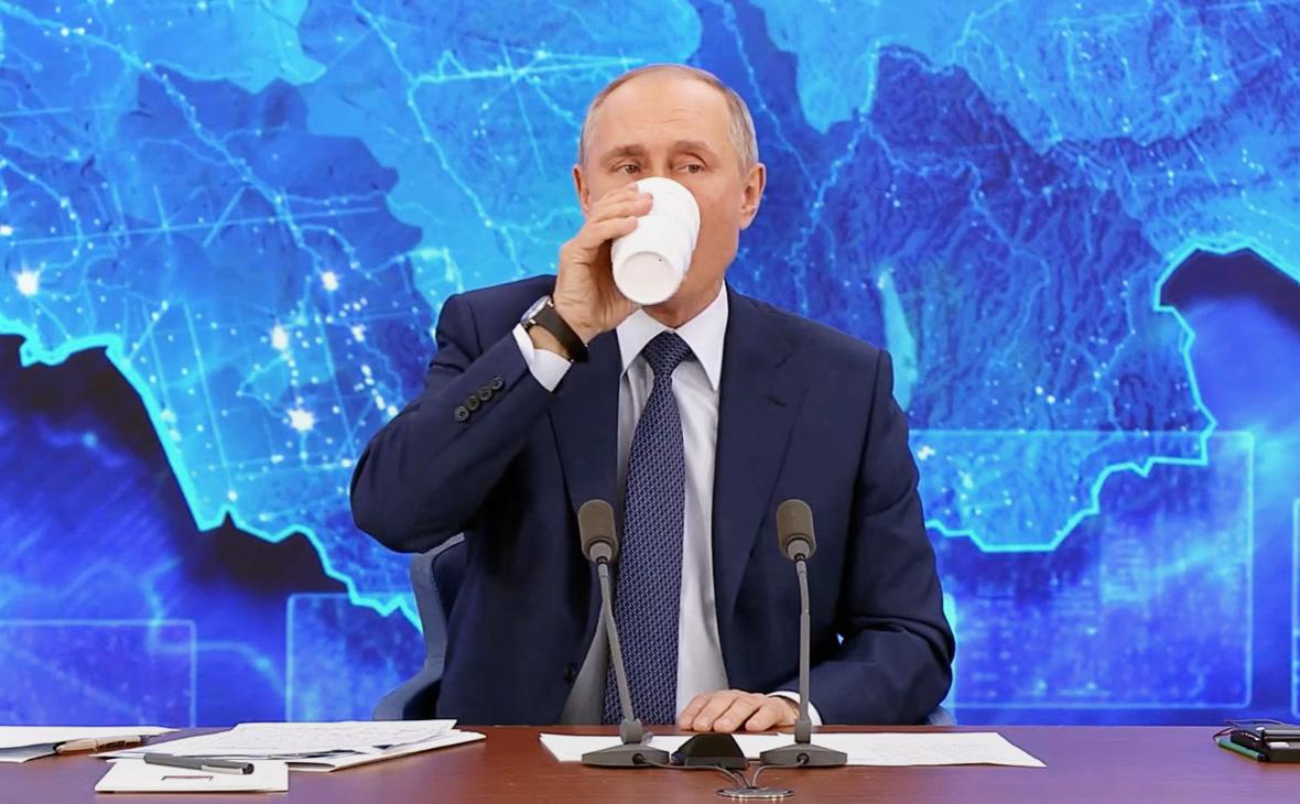 Путин рассказал о содержимом своего термоса на пресс-конференции