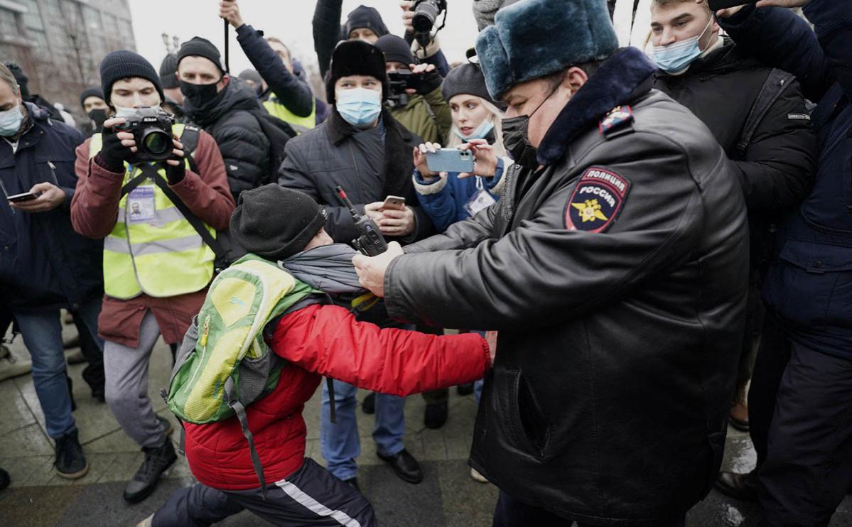 Акции в поддержку Алексея Навального и столкновения с полицией. Главное