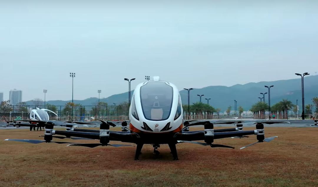 В Китае представили летающие беспилотники для туристов