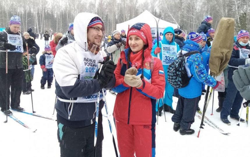 В День всех влюблённых горожане покоряли лыжню