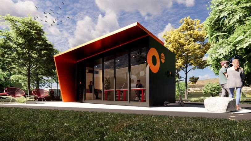 Ирландский стартап строит модульные офисы для загородных домов, которые можно сдавать в аренду
