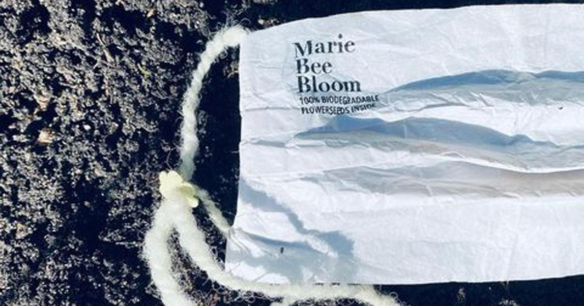 В Нидерландах создали биоразлагаемую маску, которую можно закопать, и из нее прорастут цветы