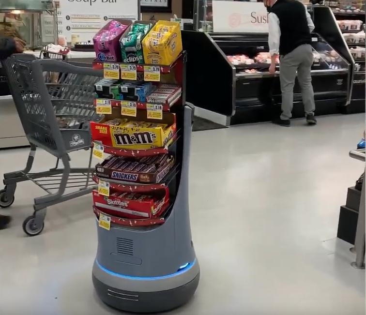 Mars создала робота, который ездит за покупателями в магазине и предлагает им сладости