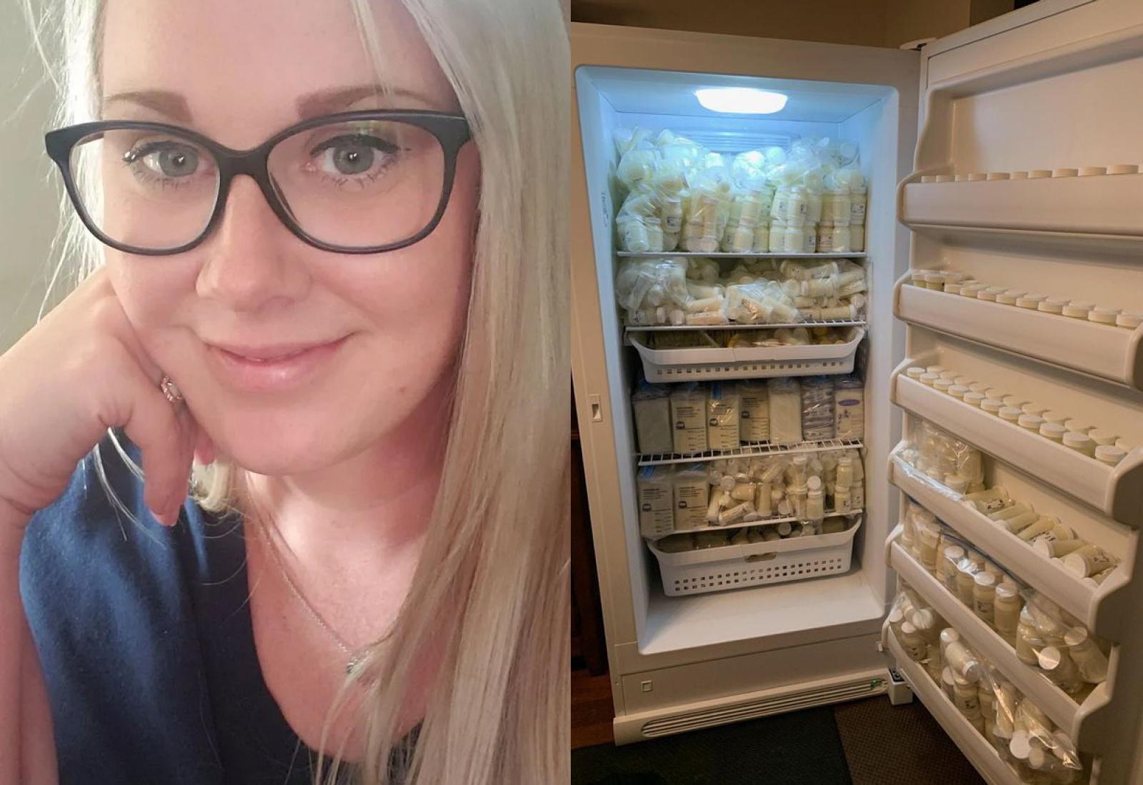 Мама заработала полтора миллиона на продаже грудного молока, и вот как выглядит её холодильник
