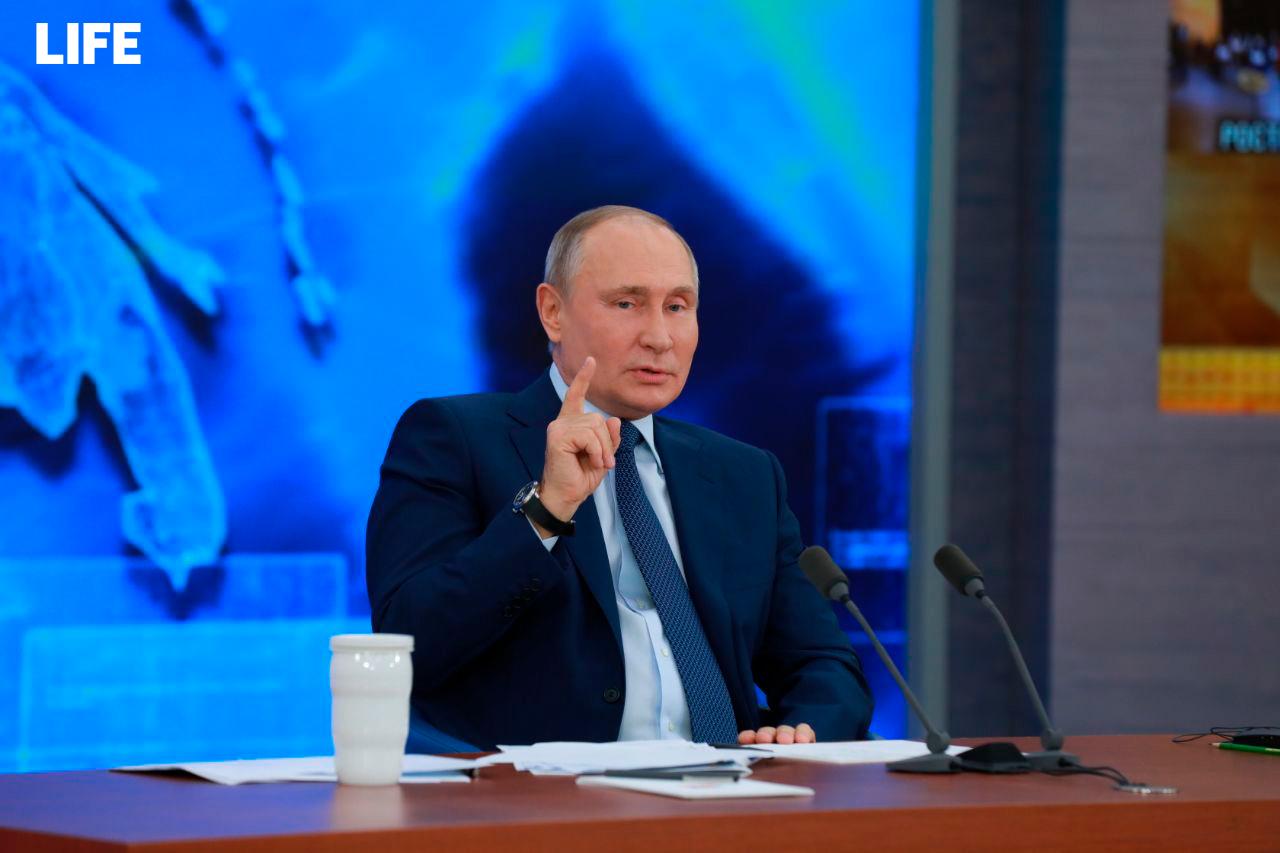 Путин: РФ будет наращивать поддержку Донбасса