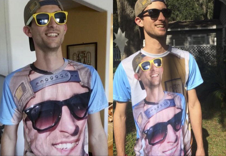 Парень каждый год фотографировался с собой на футболке, и вот что у него вышло спустя 7 лет