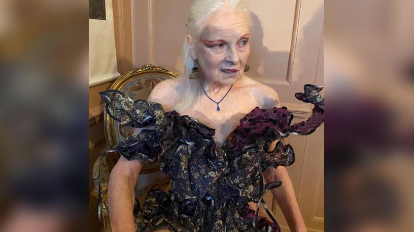 79-летняя Вивьен Вествуд показала фото в 'голом' платье