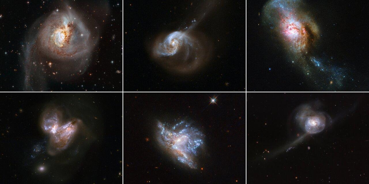Красота из хаоса. NASA опубликовало снимки шести столкновений галактик