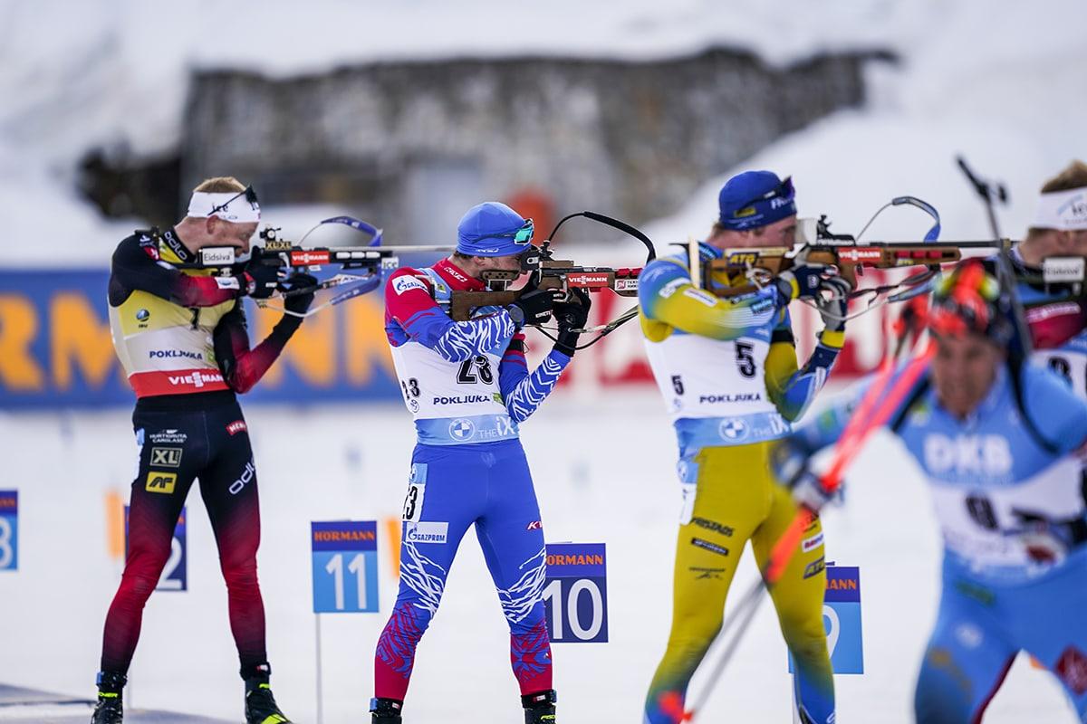Россияне не завоевали медалей в заключительной гонке ЧМ по биатлону