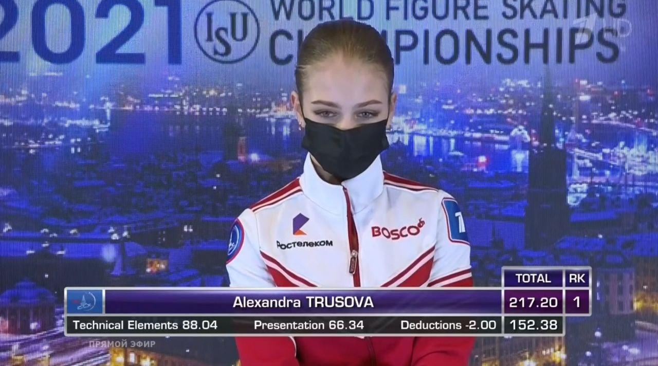Трусова ответила на вопрос об уходе от Плющенко