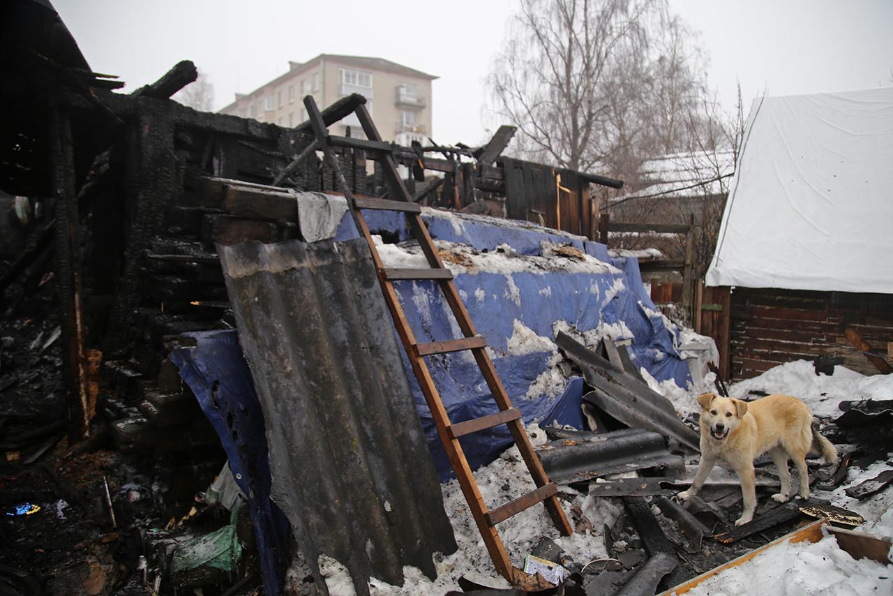 «Внучка схватила собачку и выпрыгнула». В Петербурге после пожара без дома осталась семья из 36 человек