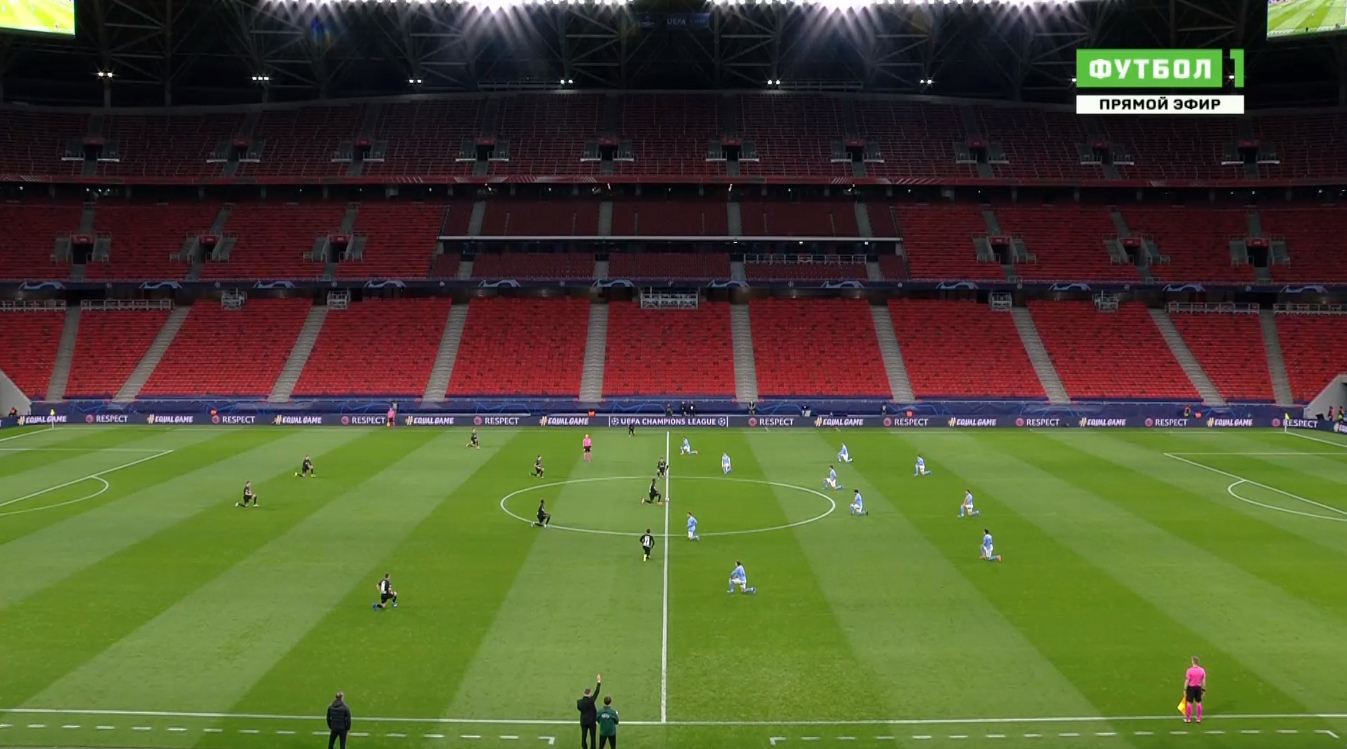 Бригада Карасева не встала на колено перед матчем «Сити» – «Боруссия»
